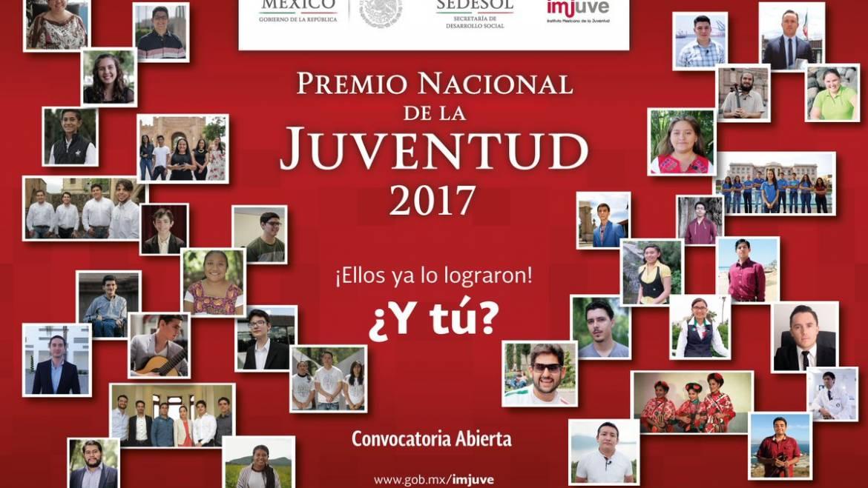"""México convoca el «Premio Nacional de la Juventud 2017"""""""