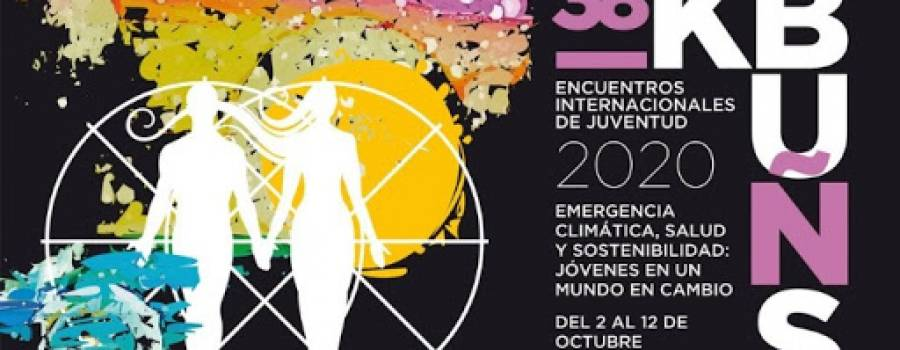 Encuentros Internacionales de Juventud KBUÑS 2020: Emergencia climática, salud y sostenibilidad.
