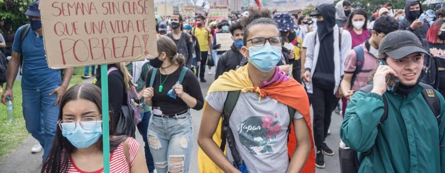 La opinión de las y los jóvenes colombianos frente al paro nacional